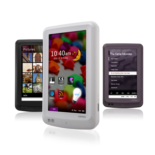 White Cowon X7 160GB Portable Media Player